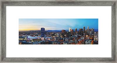 Los Angeles Skyline Framed Print