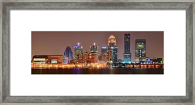Louisville Panoramic View Framed Print by Frozen in Time Fine Art Photography