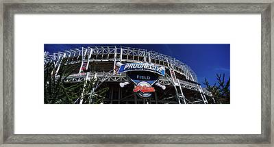 Low Angle View Of A Baseball Stadium Framed Print