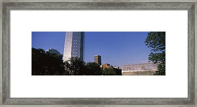 Low Angle View Of The Devon Tower Framed Print by Panoramic Images