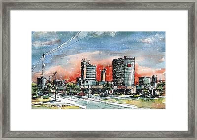 Lubbock Texas Skyline Framed Print