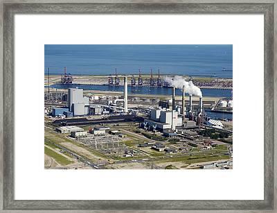 Maasvlakte, Europort, Rotterdam Framed Print by Bram van de Biezen