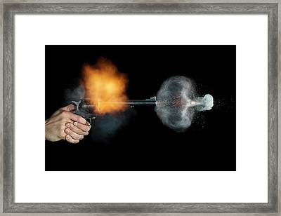 Magnum Revolver Shot Framed Print by Herra Kuulapaa � Precires