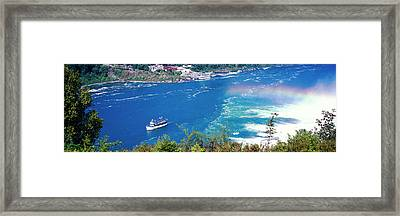 Maid Of The Mist Boat Ride To Falls Framed Print by Panoramic Images