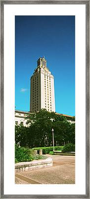 Main Building Of University Of Texas Framed Print by Panoramic Images