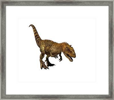 Majungasaurus Dinosaur Framed Print by Mikkel Juul Jensen