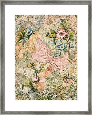 Marble End Paper  Framed Print