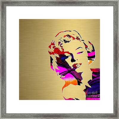 Marilyn Monroe Gold Series Framed Print