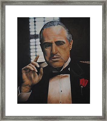 Marlon Brando The Godfather Framed Print