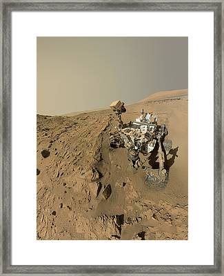 Mars Curiosity Rover Self-portrait Framed Print by Nasa/jpl-caltech/msss