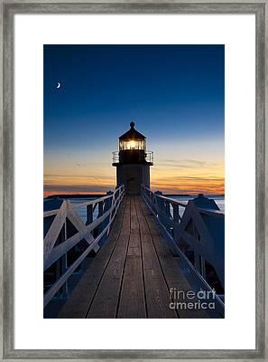 Marshall Point Light Framed Print by Brian Jannsen