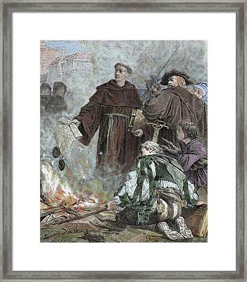Martin Luther (eisleben, 1483 Framed Print