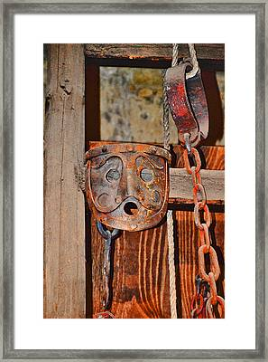 Masks Medieval Inquisition. Next To Charles Bridge. Prague. Czech Republic. Framed Print by Andy Za