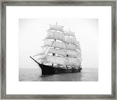 3 Masted Ship Mary L. Cushing Framed Print by Daniel Hagerman