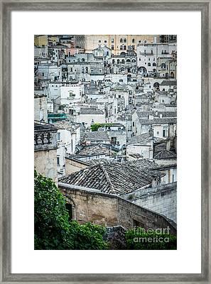 Matera City Of Stones Framed Print by Sabino Parente