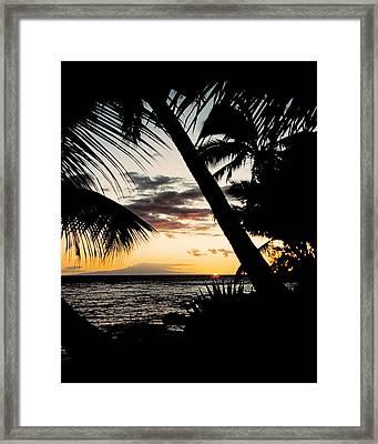 Maui Sunset Framed Print