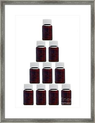 Medicine Bottles, Artwork Framed Print by Victor de Schwanberg
