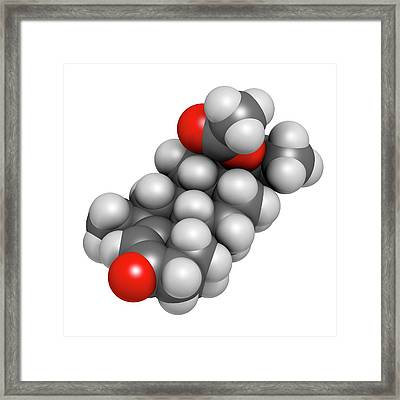 Medroxyprogesterone Acetate Drug Molecule Framed Print by Molekuul