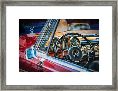 Mercedes-benz 250 Se Steering Wheel Emblem Framed Print