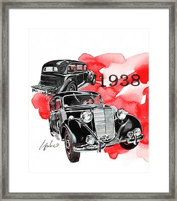 Mercedes Benz 260d Pullman Limousine Framed Print by Yoshiharu Miyakawa