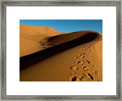 Merzouga, In The Deep South Of Morocco Framed Print by Dani Salv�
