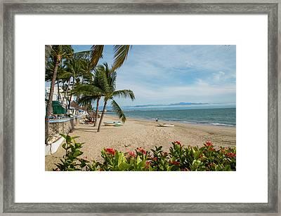 Mexico, Bahia De Banderas, Bucerias Framed Print