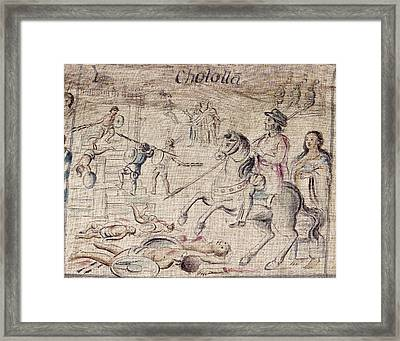 Mexico Spanish Conquest Framed Print