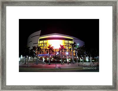 Miami Heat  Framed Print by Andres LaBrada