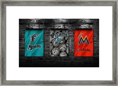 Miami Marlins Framed Print by Joe Hamilton