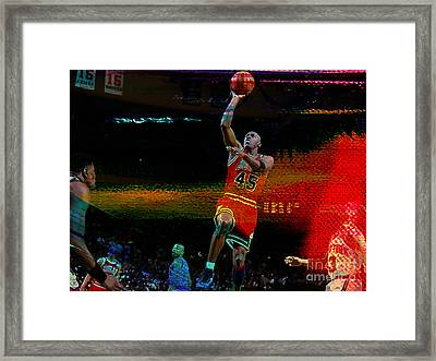 Michael Jordon Framed Print