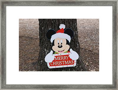 Mickey Mouse Framed Print by Dick Willis