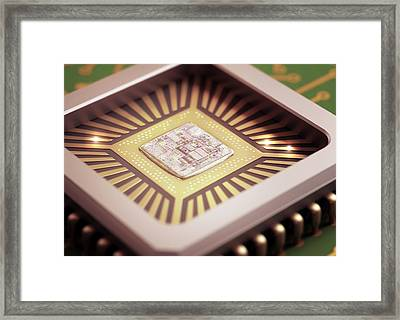 Microchip Framed Print by Ktsdesign