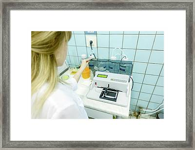 Microplate Reader Framed Print by Wladimir Bulgar