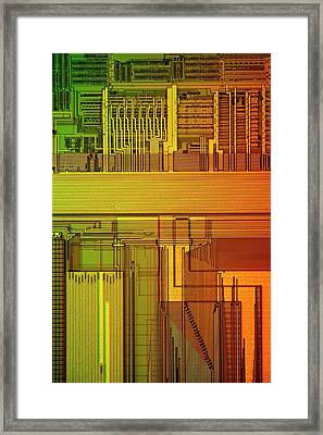 Microprocessor Components Framed Print