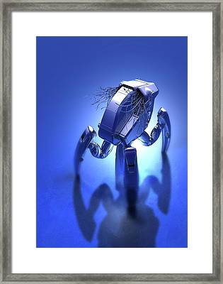 Microrobot Framed Print by Victor Habbick Visions/science Photo Library