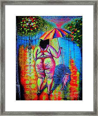 Midnight Walk Framed Print by Viktor Lazarev