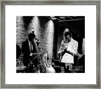 Miles Davis And Buster Williams At The Penthouse Framed Print