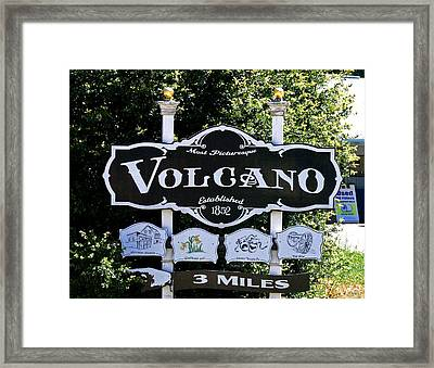 3 Miles To Volcano Framed Print by Joseph Coulombe