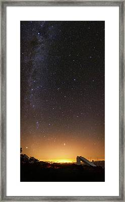 Milky Way Over Kitt Peak Observatory Framed Print by Babak Tafreshi
