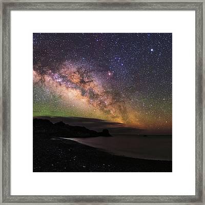 Milky Way Over La Palma Framed Print by Babak Tafreshi