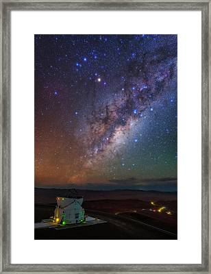 Milky Way Over Paranal Observatory Framed Print by Babak Tafreshi