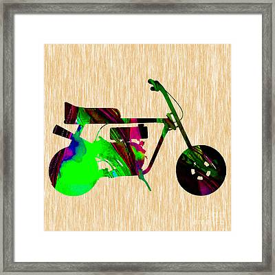 Mini Bike Framed Print by Marvin Blaine