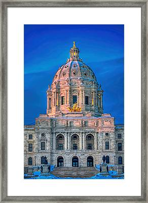 Minnesota State Capitol St Paul Framed Print