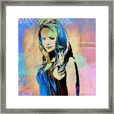 Miranda Lambert Collection Framed Print by Marvin Blaine