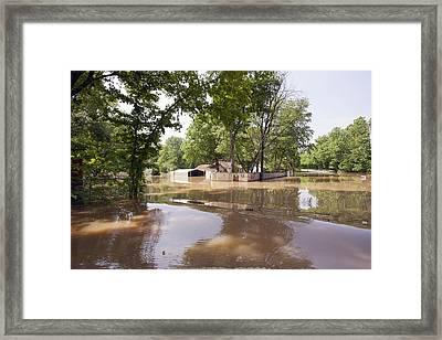 Mississippi River Floods, 2011 Framed Print
