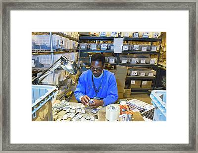 Mobile Phone Recycling Framed Print