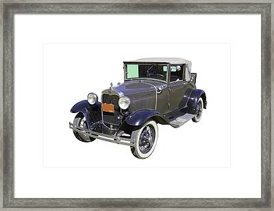 Model A Ford Roadster Convertible Antique Car Framed Print