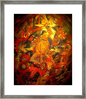 Modern Abstract Art Acrylic Painting Original Canvas  Framed Print