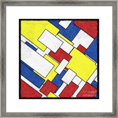 Mondrian Rectangles Framed Print by Celestial Images