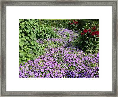 Monet's Garden In France Framed Print
